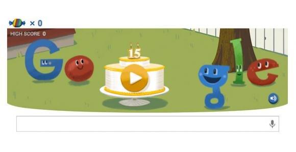 Google compie 15 anni e festeggia con un nuovo doodle