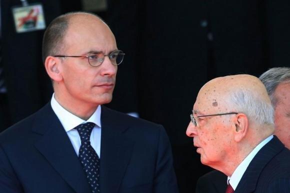 Enrico Letta da Napolitano per la fiducia al governo
