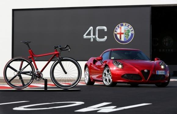 Alfa Romeo 4C e il progetto Bicicletta 4C IFD con Compagnia Ducale