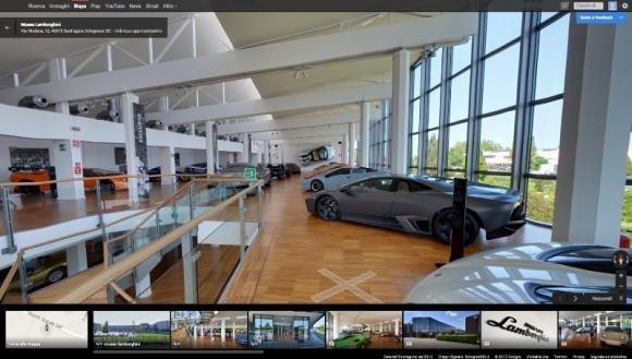 Il Museo Lamborghini visitabile online grazie a Google Maps