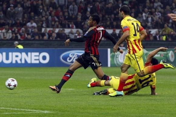 Un buon Milan ferma il Barca 1-1