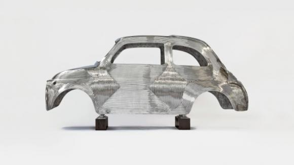 Fiat 500 alla mostra 'In Reverse' di Ron Arad