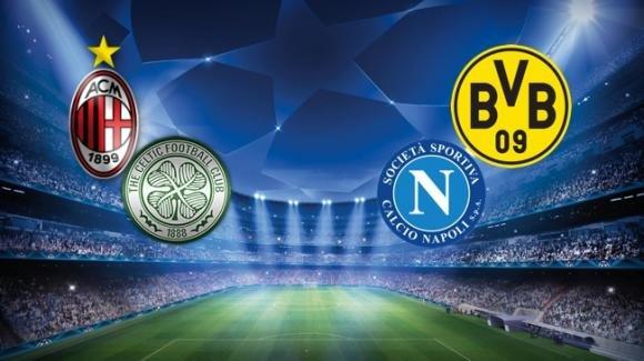Serata Champions: bene il Milan, disastro Napoli