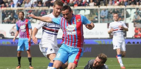Catania Sampdoria 2-1 per continuare a sperare nella salvezza