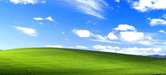 Windows XP e la storia della foto della collina diventata sfondo per il desktop