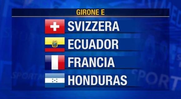 Mondiali 2014: Gruppo E, la Francia prima, la Svizzera seconda