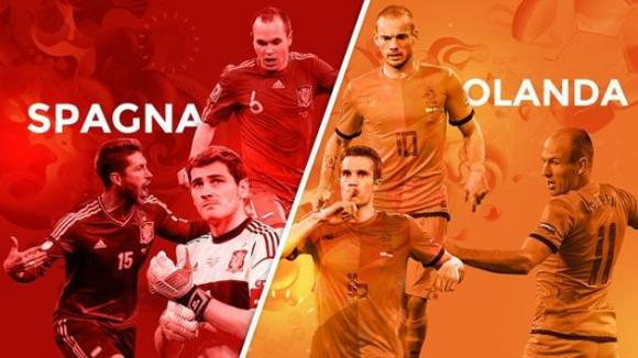 Spagna-Olanda 1-5: lezione firmata Robben e Van Persie