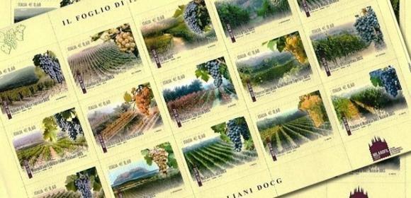 Le poste italiane celebrano i Vini DOCG con un foglietto di 15 francobolli