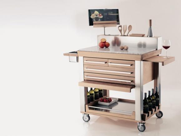 Carrelli da cucina di design, proposti in svariati materiali e modelli