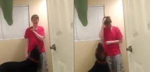 Sindrome di Asperger: un rottweiler le impedisce di farsi del male