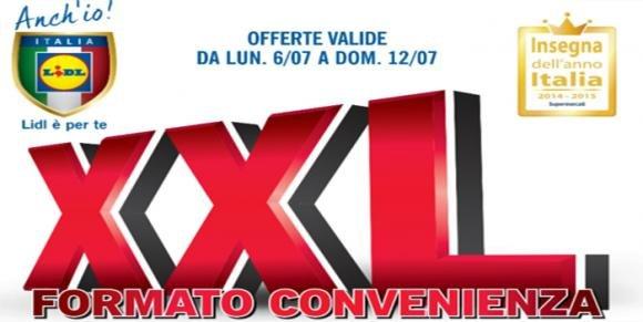 """Volantino Lidl dal 6 al 12 Luglio 2015: """"XXL Formato Convenienza"""""""