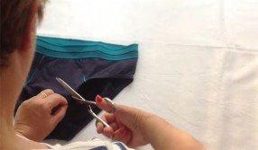 Ecco come trasformare degli slip da uomo in un top per donna