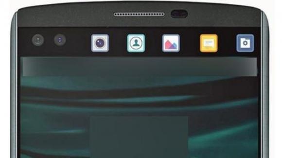 Ecco il phablet LG V10 con mini display accessorio per notifiche varie