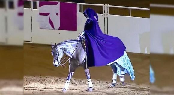 Ecco un'esibizione a cavallo davvero bellissima
