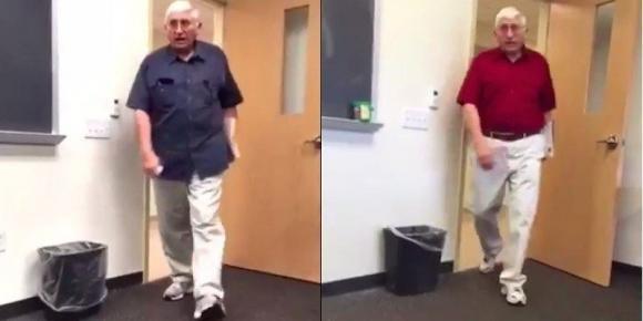 Filma il suo professore ogni giorno. Ecco il risultato