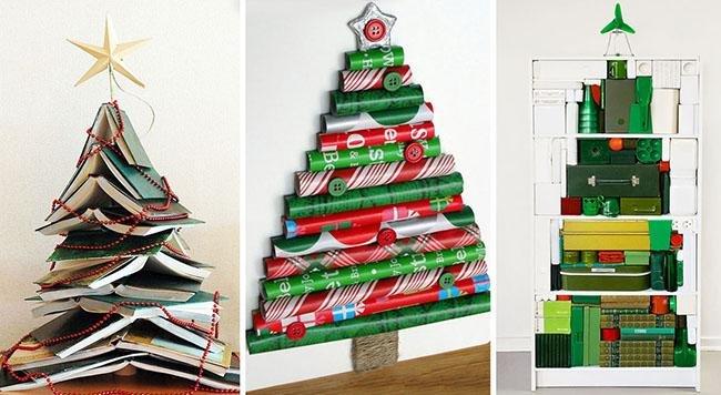Albero Di Natale Originale Fai Da Te.Alcune Idee Fai Da Te Per Un Albero Di Natale Creativo Ed