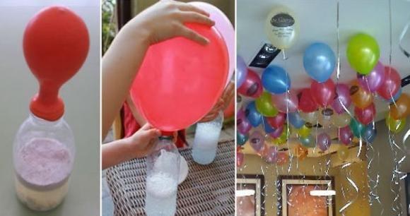 Ecco un trucco per gonfiare i palloncini. Geniale!