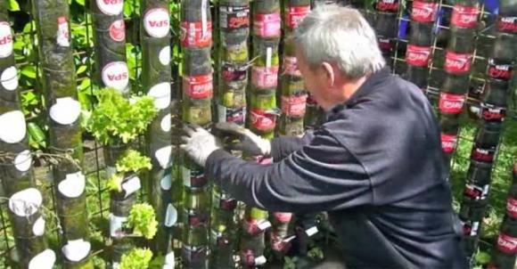Mette delle bottiglie di plastica nel giardino. Quello che crea è incredibile!