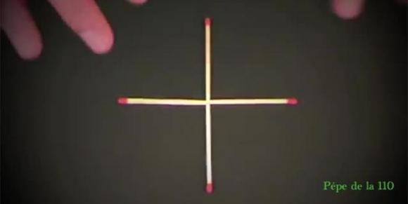 Formare un quadrato muovendo solo un fiammifero. Ecco come fare