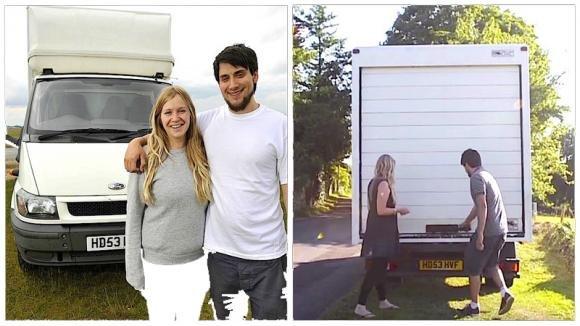 Coppia vive in un camion. Non immaginerete mai com'è all'interno