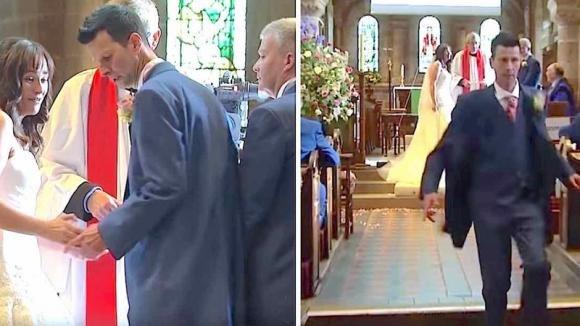 Abbandona la sposa all'altare. Gli invitati scoppiano a ridere quando capiscono il motivo