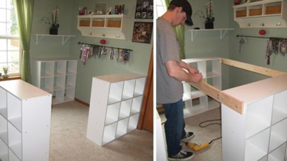 Unisce 3 scaffali Ikea e dà vita ad un mobile davvero ingegnoso
