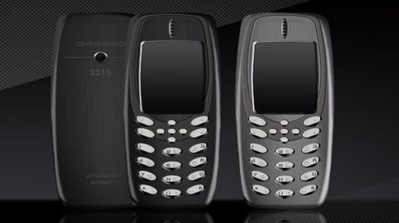 Gresso 3310, una versione del Nokia 3310 in titanio e oro da 3000 $