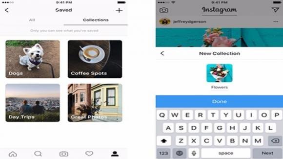 Instagram: con le Collezioni si fa ordine tra gli elementi salvati
