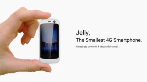 Jelly, il più piccolo smartphone al mondo con Android Nougat e 4G