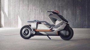 BMW Motorrad Concept Link, scooter del futuro che ricorda le moto Tron