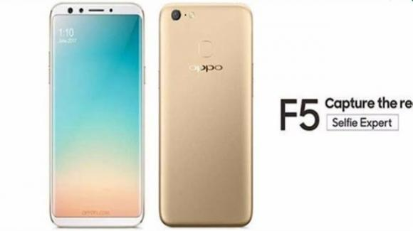 Oppo F5 Youth, medio gamma con intelligenza artificiale e FullView Display da 6 pollici