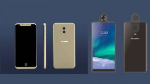Maxi display con gli smartphone Doogee V (scanner in-display) e Bluboo S2 (fotocamera rotante)