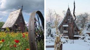 Le casette di Dan Pauly sembrano uscite dalle fiabe: sono fatte di legno riciclato