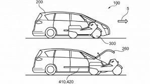 Ford ha depositato il brevetto di un'auto che ha uno scooter elettrico integrato al proprio interno