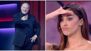 Gerry Scotti provoca Belen Rodriguez: ecco la frase choc e scurrile pronunciata a Balalaika