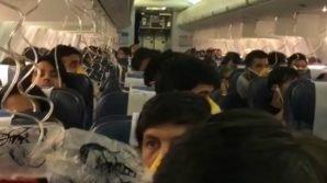 Sangue dal naso e dalle orecchie: panico in aereo per alcuni passeggeri