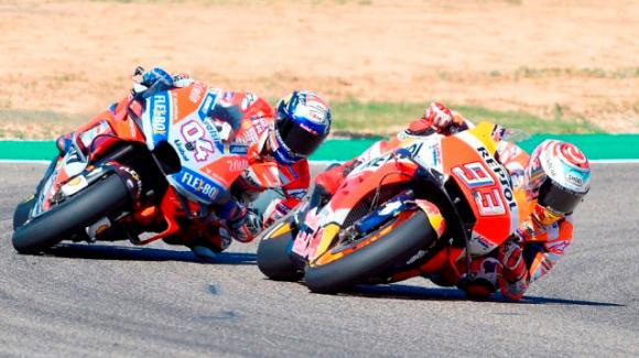 Gp Aragona: vittoria per Marquez e mondiale più vicino. Dovizioso e Iannone sul podio