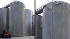 Conegliano, salta il tappo del silos: 30 mila litri di prosecco finiscono sull'asfalto