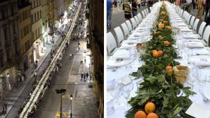 La cena dei mille: una tavola da record sotto le stelle di Parma