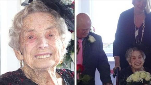 Donna di 100 anni sposa un uomo che ha 26 anni meno di lei