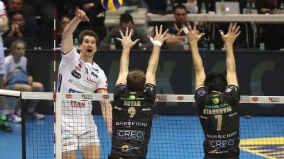 Superlega Volley Maschile: Lube Civitanova- Diatec Trentino 3-2