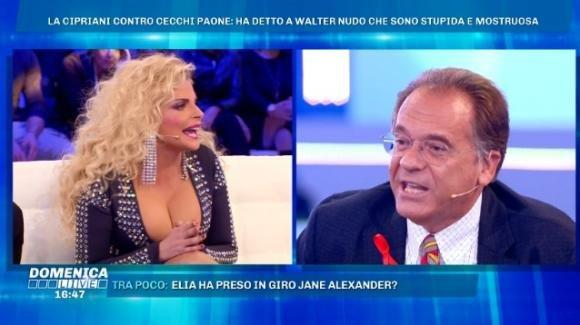 """Domenica Live, scontro verbale tra Francesca Cipriani e Alessandro Cecchi Paone: """"Sei una testa di cavolo!"""""""