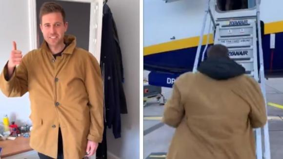 Quest'uomo ha trovato un modo geniale per aggirare le restrizioni sul bagaglio a mano di Ryanair