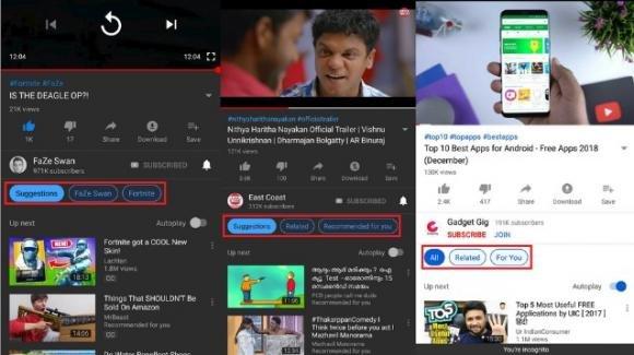YouTube: in test (anche su Android) i filtri per controllare i video in riproduzione automatica