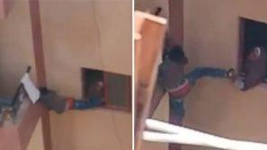 Mamma dimentica le chiavi di casa e costringe il figlio a saltare nel vuoto per entrare dal balcone
