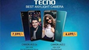 Tecno Camon iAce 2X e Camon iAce 2: low cost ben bilanciati con tanta sicurezza ed Android Oreo