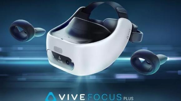 HTC punta sul virtuale per rinascere, col visore Vive Focus Plus munito di controller a 6° di libertà