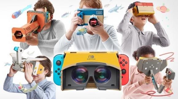 """""""Nintendo Labo: Kit VR"""": la consolle Switch si affaccia alla realtà virtuale con i set Nintendo Labo"""