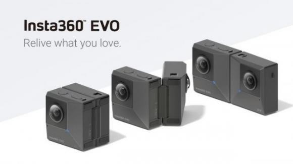 Insta360 EVO: ecco la prima fotocamera pieghevole, per riprese in 3D o a 360°
