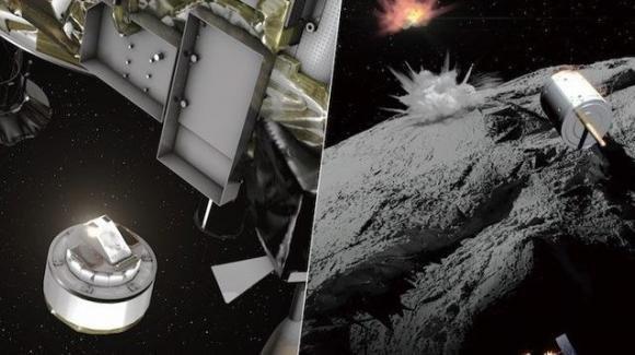 Hayabusa2 ha sparato un proiettile di rame contro l'asteroide 162173 Ryugu